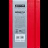 Блокнот деловой STRONG LOGO2U, А5-, 80л., тв. обложка из кожзама, в клетку, красный