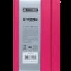 Блокнот деловой STRONG LOGO2U, А5-, 80л., тв. обложка из кожзама, в клетку, розовый