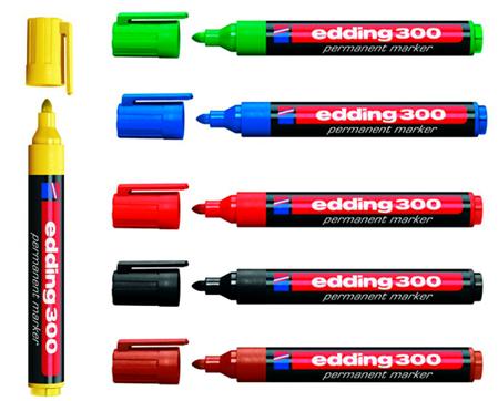 Маркер перманентный Permanent e-300 1,5-3мм, круглый (6 цветов)