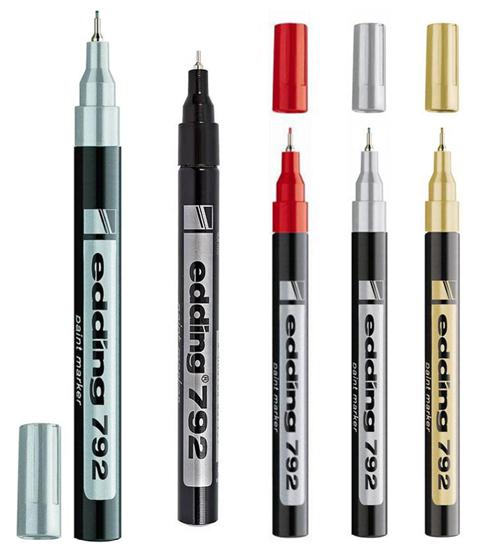 Лак-маркер Paint e-792 для промышленных и декоративных целей 0,8мм (5 цветов)
