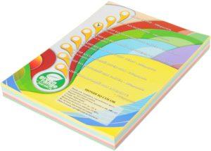 Набор цветной бумаги ПАСТЕЛЬ А4, 80г/м2, 250 листов (5 цветов по 50 листов)
