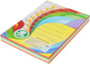 Набор цветной бумаги ИНТЕНСИВ А4, 80г/м2, 250 листов (5 цветов по 50 листов)
