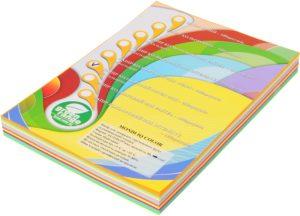 Набор цветной бумаги 10 цв. ИНТЕНС+ПАСТ. А4, 80г/м2, 250 листов (10 цветов по 25 листов)