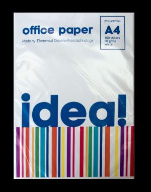 Бумага А4 IDEA! IQ офисная, белая, класс С,  80г/м, 100лист/пачка