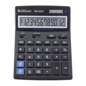 Калькулятор BRILLIANT BS-0222, 12 разрядов, две батареи