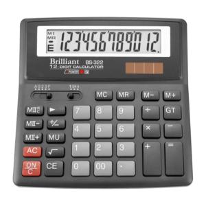 Калькулятор BRILLIANT BS-322, 12 разрядов, две батареи