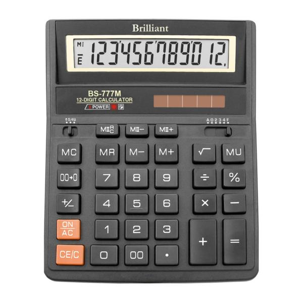 Калькулятор BRILLIANT BS-777M, 12 разрядов, две батареи