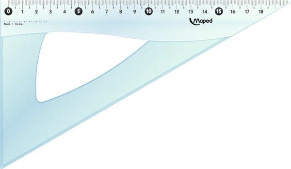 Угольник ESSENTIALS 60 градусов, 210 мм, прозрачный пластик