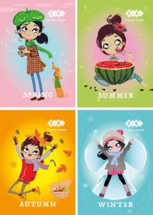 Блокнот, детский GIRL, формат А6, 40л, на пружине, картонная обложка, в клетку