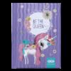 Блокнот, детский BE THE QUEEN, формат А6, 64л, твердая обложка, в клетку, лавандовый
