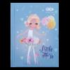Блокнот, детский LITTLE MISS, формат А6, 64л, твердая обложка, в клетку, голубой