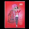Блокнот, детский CUTE GIRL, формат А6, 64л, твердая обложка, в клетку, красный