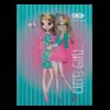 Блокнот, детский CUTE GIRL, формат А6, 64л, твердая обложка, в клетку, бирюзовый