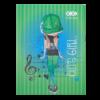 Блокнот, детский CUTE GIRL, формат А6, 64л, твердая обложка, в клетку, салатовый