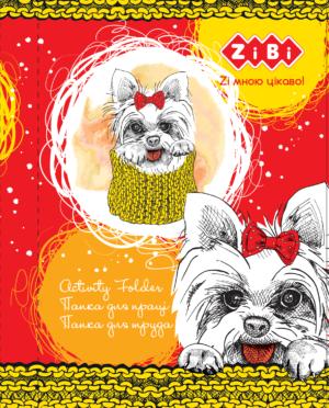 Папка для труда LOVELY DOG, А4+ картонная,  на резинке Kids Line