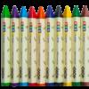 Карандаши восковые JUMBO, 10 цветов, треугольные 28392