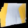 Обложки для учебников прозрачные с клапаном 270х505мм, 5 штук, 75мкм