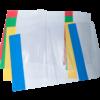 Обложки для учебников прозрачные с клапаном 250х420мм, 5 штук, 75мкм