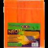 Обложки для учебников универсальные А5 NEON с клапаном, 5шт, 125мкм 28953