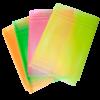 Обложки для учебников универсальные А5 NEON с клапаном, 5шт, 125мкм