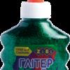 Клей ГЛИТТЕР для слаймов, зеленый прозрачный с блестками, 88 мл