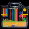 Набор для рисования 5в1: цветные карандаши, восковые мелки, акварель, кисть, точилка