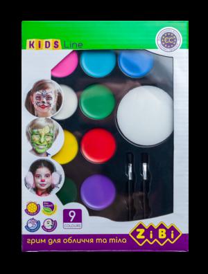 Краски для грима для лица и тела КРЕАТИВ на восковой основе, 9 цветов