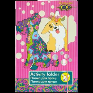 Папка для труда Art Effect DOG, А4+ картонная,  на резинке Kids Line