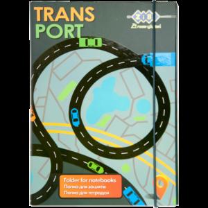 Папка для тетрадей Art Effect TRANSPORT, B5+ картонная,  на резинке Kids Line