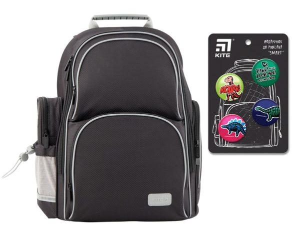 Рюкзак шкільний каркасный Kite Education K19-702M-4 Smart чорний