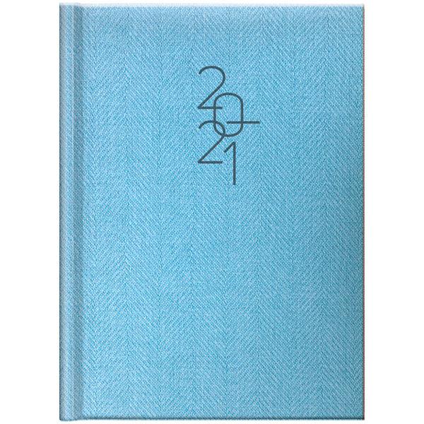Ежедневник датированный BRUNNEN 2021 СТАНДАРТ TWEED, голубой