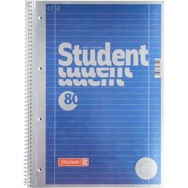 Колледж-блок А4 Premium, линия, 80 арк., металлический блеск, микроперфорация, 4 отверстия