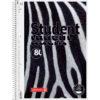 Колледж-блок А4 Premium, клетка, 80 арк., Zebra, микроперфорация, 4 отверстия