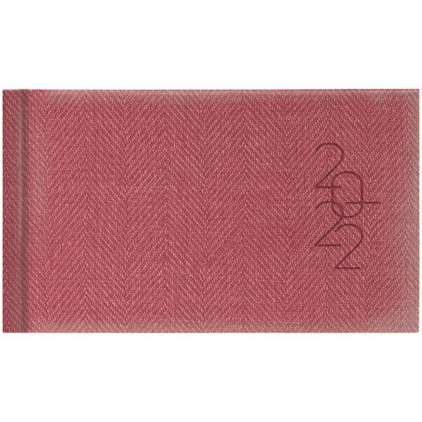 Еженедельник карманный датированный BRUNNEN 2022 TWEED красный