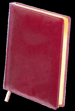 Ежедневник недатированный А4 BOSS красный, кремовый блок, КОЖА