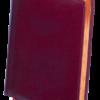 Ежедневник недатированный А4 BOSS бордовый, кремовый блок, КОЖА
