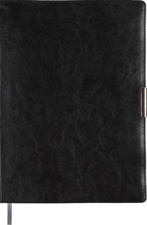 Ежедневник недатированный А4 SALERNO черный, кремовый блок, гибкий