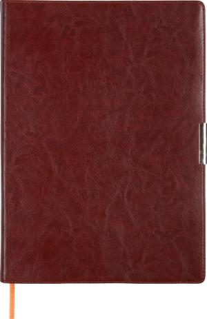 Ежедневник недатированный А4 SALERNO коричневый, кремовый блок, гибкий