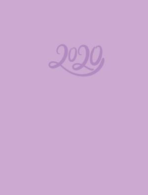 Ежедневник датированный 2020 CRAYON, А5, фиолетовый