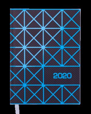 Ежедневник датированный 2020 LINEA, А5, синий