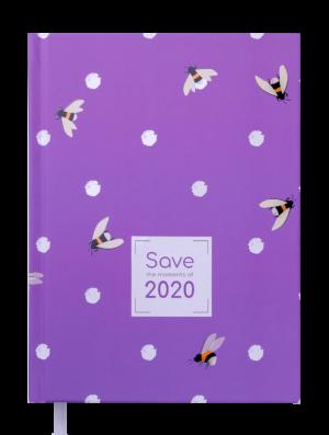 Ежедневник датированный 2020 SAVE, А5, фиолетовый
