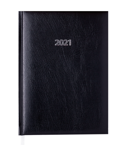 Ежедневник датированный 2021, EXPERT A5, черный