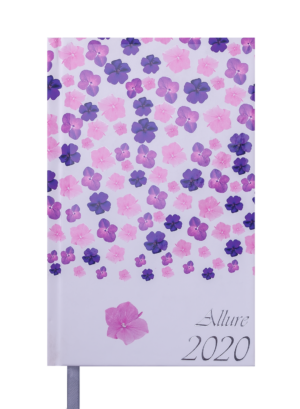 Ежедневник датированный 2020 ALLURE, A6, фиолетовый, твердая обложка