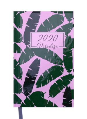 Ежедневник А5 датированный 2020 PARADISE, А5, зеленый, твердая обложка