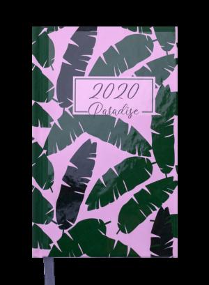 Ежедневник датированный 2020 PARADISE, A6, зеленый, твердая обложка