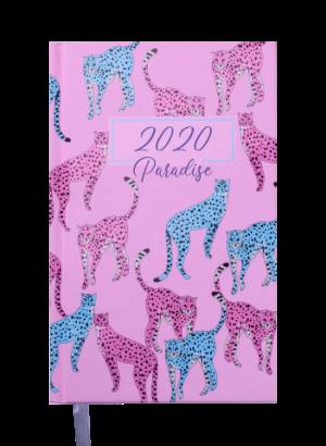 Ежедневник А5 датированный 2020 PARADISE, А5, светло-розовый, твердая обложка