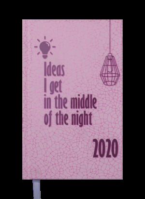 Ежедневник датированный 2020 FATTORE, A6, розовый