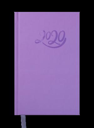 Ежедневник датированный 2020 CRAYON, A6, фиолетовый, твердая обложка