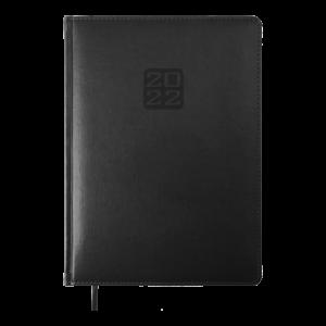 Ежедневник 2022 А4 BRAVO(Soft) датированный, черный, кремовый блок