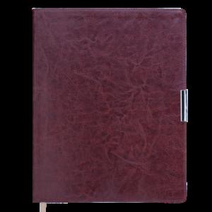 Еженедельник А4 2022 SALERNO коричневый, гибкая обложка